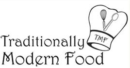 Traditionally Modern Food retina mobile menu logo