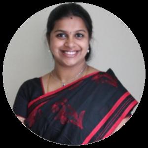 Vidya's portrait, the author of the blog
